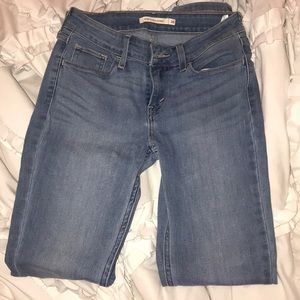 Levi super skinny light denim jeans size 26